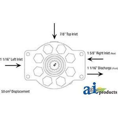 Ar101807-r Re-mfg. Hydraulic Pump Fits John Deere 300 300b 302a 310 400 401 401c