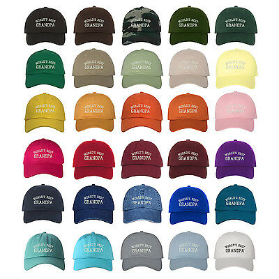 WORLD'S BEST GRANDPA Dad Hat Low Profile Grandfather Baseball Caps - Many