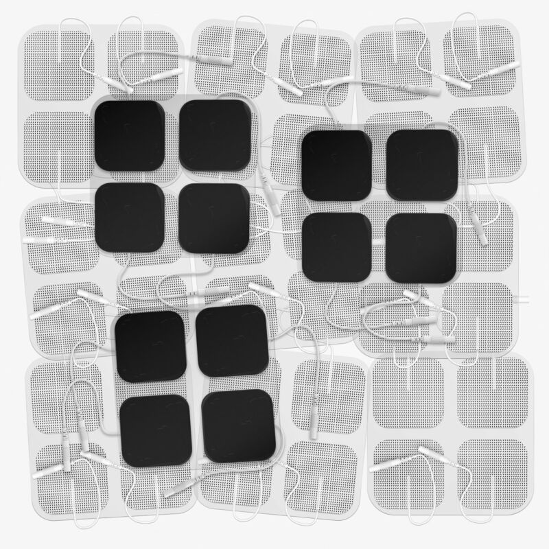 """DONECO 2"""" Square TENS Unit Electrodes, 48-Pack Electro Pads for TENS Therapy"""