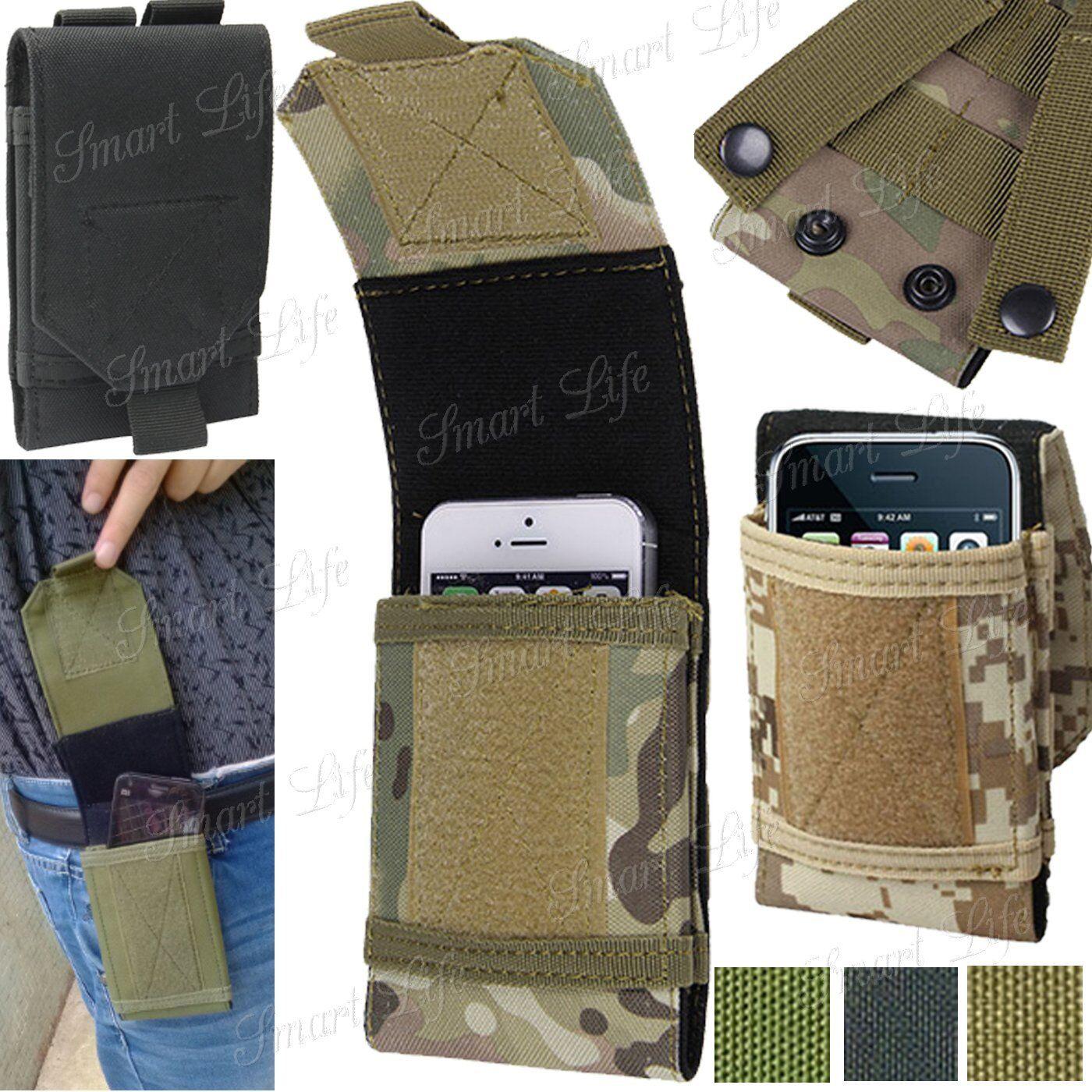 UNIVERSALE militare mimetico Borsa per telefoni cellulari Passante GANCIO