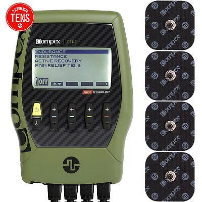Compex Edge 2.0 Muscle Stimulator Tens Unit Kit TENS + EMS 4
