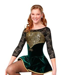 Green and Gold Celtic Dress
