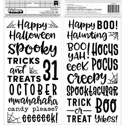 """Spoooky Thickers Stickers 5.5""""X11"""" 126/Pkg-Phrase/Puffy"""