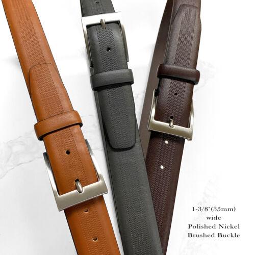 "Belts For Men Classic Casual Dress Belt Genuine Leather Belt 1-3/8""(35mm) Wide"