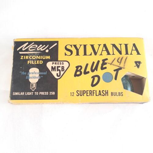 Vintage Sylvania Blue Dot Flashbulbs Press M5B - Partial Package 8 Bulbs