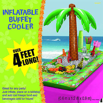 Inflatable Palm Tree Buffet Cooler for Beverages Ice Drinks Party Supplies ~ - Buffet Cooler