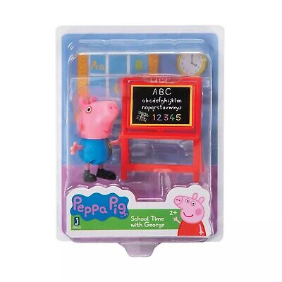 Peppa Pig Collect and Play Birthday Figure Set-SCHOOL TIME with GEORGE NEW
