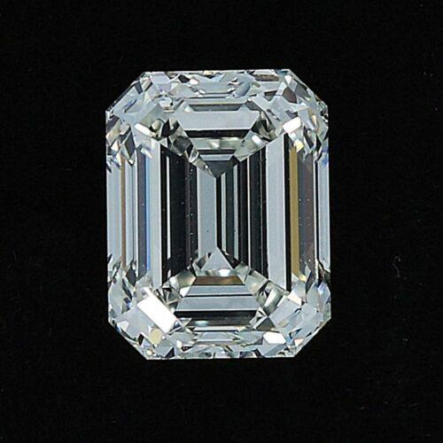Brilliant Emerald cut 1 to 5 carat white moissanite, VVS1 quality GH color