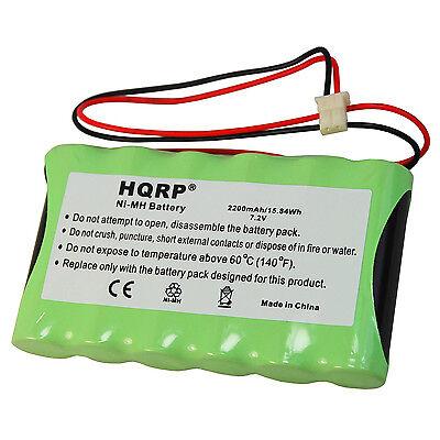 Hqrp 7,2v 2200mAh Batterie für Adt Safewatch Quickconnect, Quickconnect Plus Quick Connect Batterie