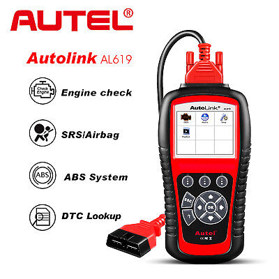 Autel AL619 OBD2 Auto Diagnostic Tool ABS Airbag Engine Car Code Reader Scanner