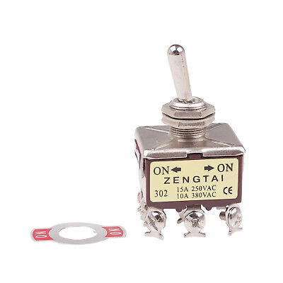 1x Panel Mount Toggle Switch 3p2t 3pdt 2 Position Onon 9 Pin 380v 10a 250v 15a