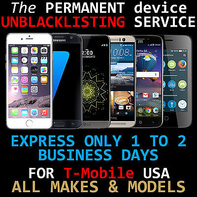 CLEANING SERVICE For USA T-Mobile Bad IMEI/ESN - CLEAN BLACKLIST, REMOVE BARRED