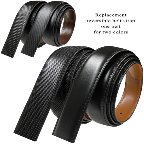 Reversible Belt Strap Replacement Genuine Leather Dress Belt Strap, 30. 32. 35mm