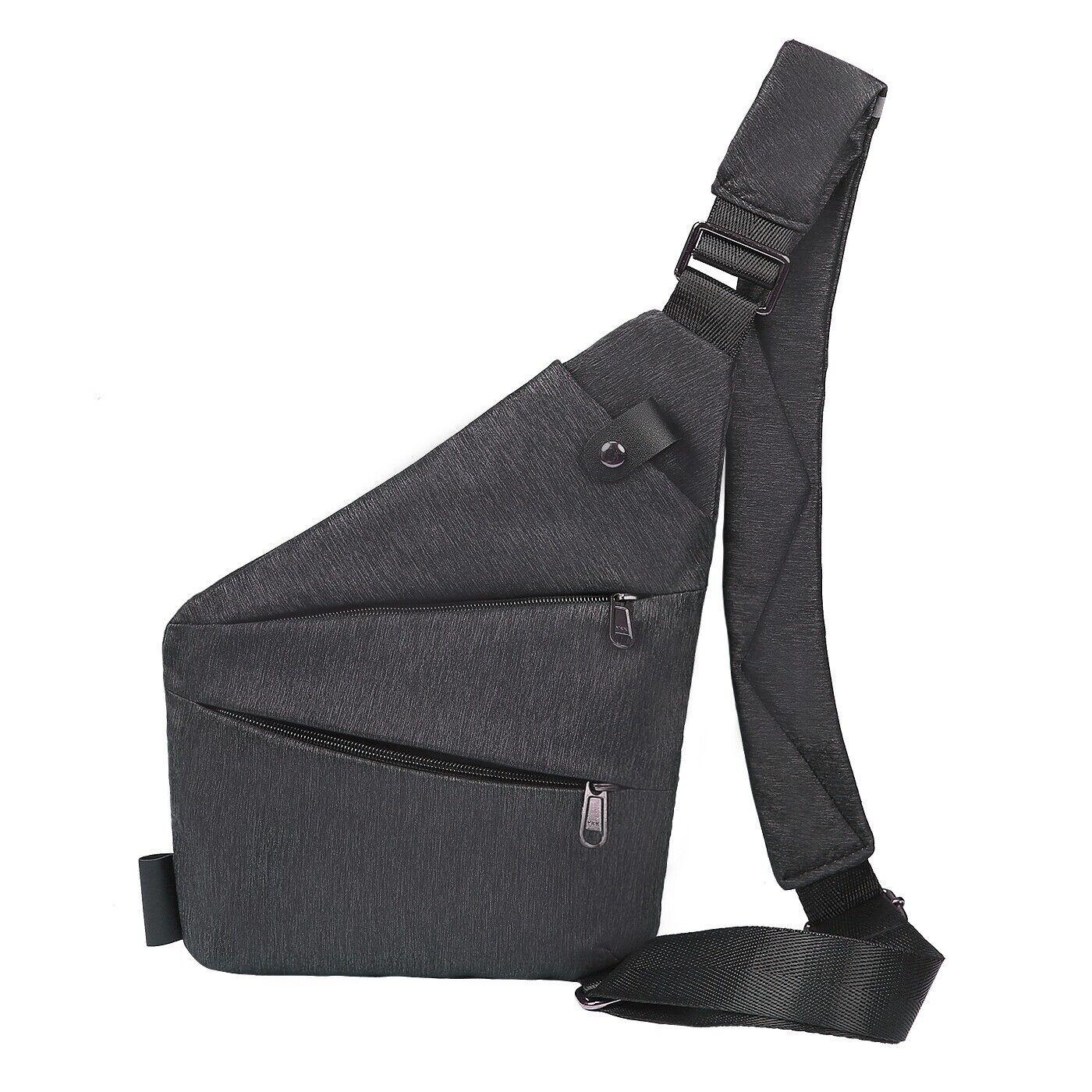 Slim Sling Bag Crossbody Shoulder Chest Small Back Pack Sash