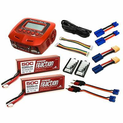dual charger and two 11 1v 5000mah