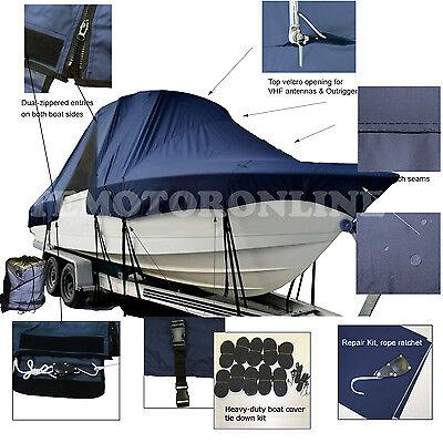 Angler 2100 WA Walk Around Cuddy Cabin T-Top Hard-Top Boat Cover Navy