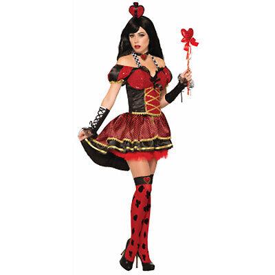 Königin der Herzen Damen Erwachsene Alice Im Wunderland Halloween Costume-Std