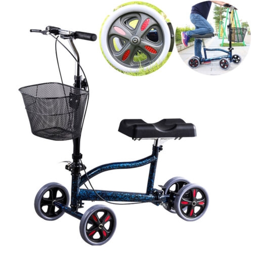 mobility knee walker scooter steerable foldable medical