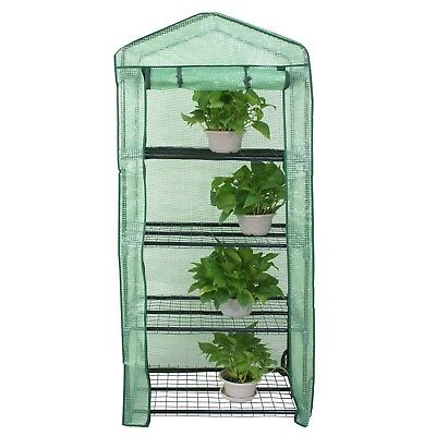 Mini Greenhouse 4 Tiers Freestanding Plant Growing Storage Shelves W/ - Freestanding Greenhouse