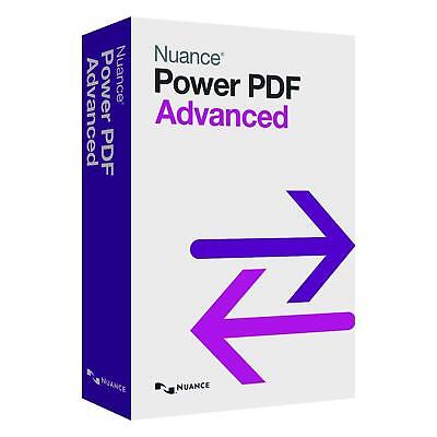Nuance Power PDF Advanced 1 Viewer Creator Editor Converter - Instant Delivery