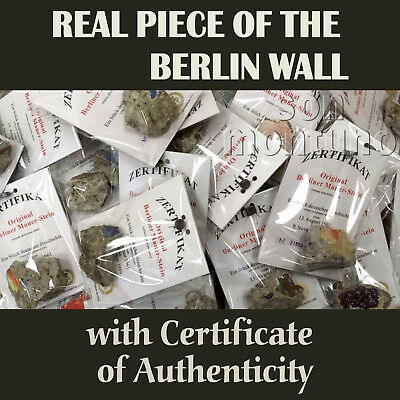 Large Piece of BERLIN WALL with Certificate - Authentic Historic German Souvenir