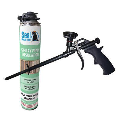 Seal Spray Closed Cell Insulating Foam Can Kit Wgun Foam Applicator 25 Bf