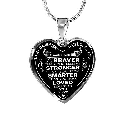Dad Love Daughter Gift Ideas - Luxury Necklace Birthday Gift From Father Daddy
