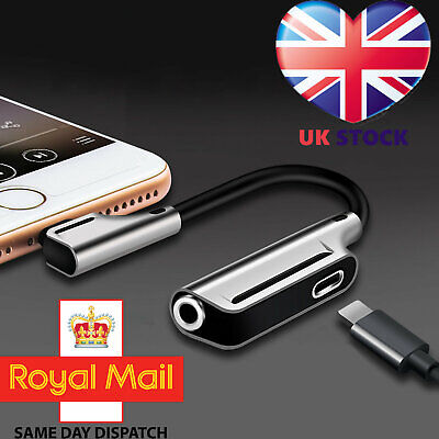 Lightning to 3.5mm Headphone Jack AUX Splitter Adapter For iPhone 11 XS X 8