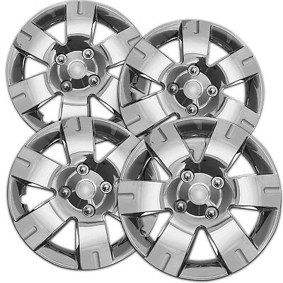 - 4pc Hubcaps fits 03-12 Nissan Sentra Wheel Covers 15 Inch 5 Spoke Chrome