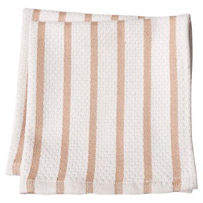 KAF Home 14 x 14 inch Basketweave Stripe Casserole Dish Cloth, Set of 2, Oatmeal Stripe Dish Cloth