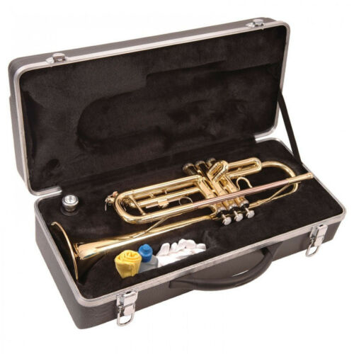 TRUMPET OUTFIT ODYSSEY DEBUT Bb - Gold Finish Brass with HARD CASE & Accessories