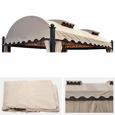 Ersatzbezug 440x340cm für Dach Pergola Pavillon Daroca 3,5x4,5m creme