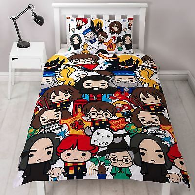 HARRY POTTER CHARM SINGLE DUVET COVER NEW REVERSIBLE 2 in 1