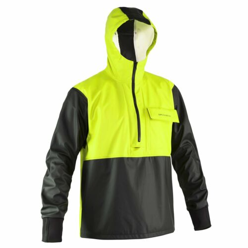 Yellow Grundens Neptune 103 Anorak Pullover Jacket Commercial Fishing Rain Gear