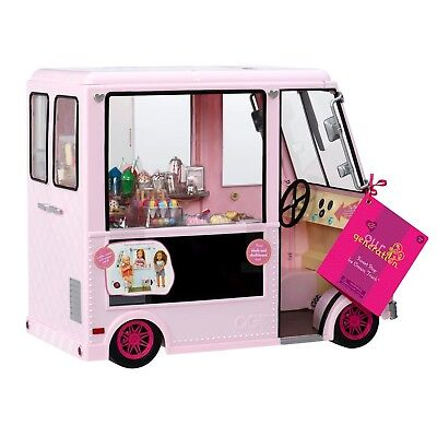 Our Generation American Girl Sweet Stop Ice Cream Truck   Pink   Free Shipping