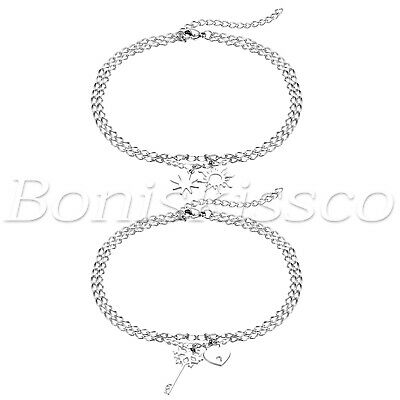 Women's Simple Charm Stainless Steel Adjustable Multi Layer Bracelet Ankle Chain ()