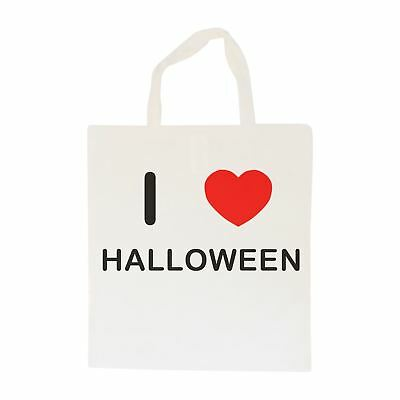 I Love Halloween - Cotton Bag | Size choice Tote, Shopper or Sling](Halloween Shoppers)