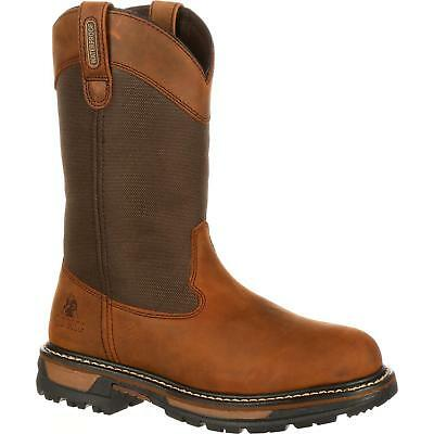 Rocky 2867 Ride Insulated Waterproof Pull On Wide Calf Western Wellington Boots - Insulated Wellington Boots