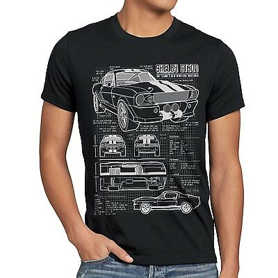 GT500 Eleanor Herren T-Shirt mustang muscle car bullit shelby pony ford mc queen