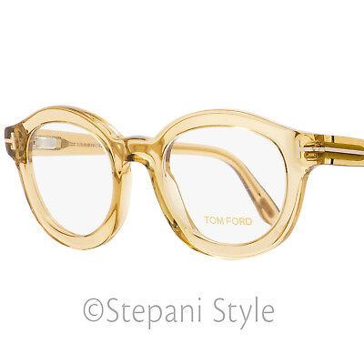Tom Ford Round Eyeglasses TF5460 045 Opal Honey 49mm FT5460