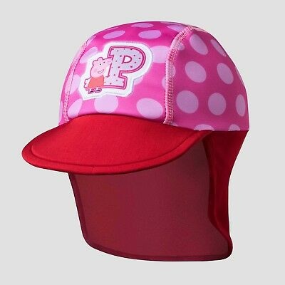 NEW Toddler Girls' Peppa Pig Safari Sun Hat - Pink/Red One - Peppa Pig Hat