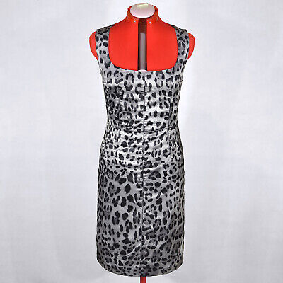 DOLCE & GABBANA NEW Sleeveless Gray Leopard Dress Size M Official Price (Dolce And Gabbana Official)