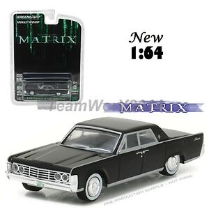 Greenlight 44770 C The Matrix 1965 Lincoln Continental Diecast Car 1:64 NEW!