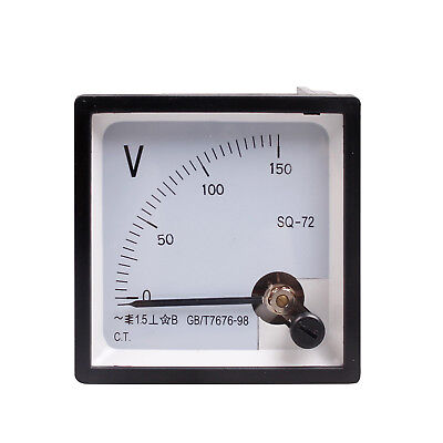 High Quality Analog Volt Panel Meter Ac 150v Sq-72 New Class 1.5 Voltmeter