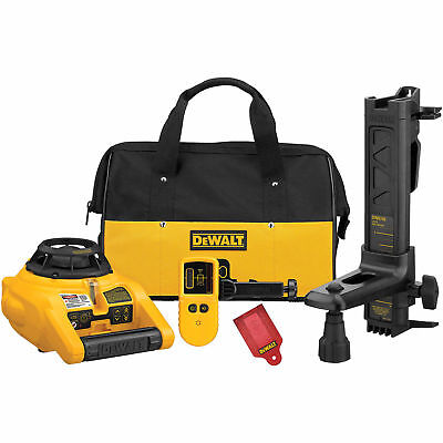 Dewalt Self Leveling Interior And Exterior Rotary Laser Level Kit Dw074kd