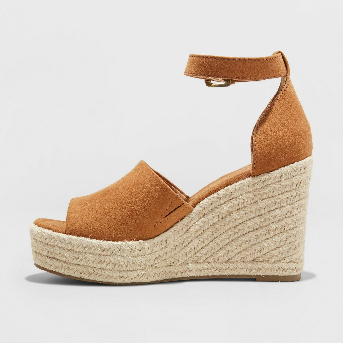 5bc435bb2af NEW Women s Emery Espadrille Sandals - Universal Thread Brown Suede feel