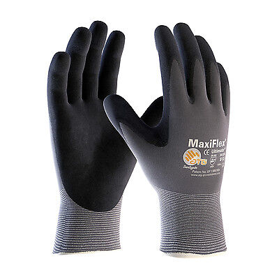 MAXIFLEX ULTIMATE NITRILE MICRO-FOAM COATED PALM, FINGER TIPS #34-874 L(12 Pack) - Fingertip Coated Gloves