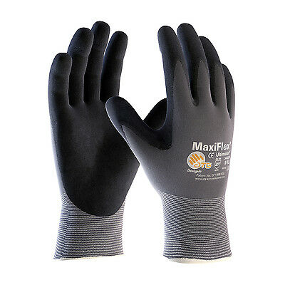 MAXIFLEX ULTIMATE NITRILE MICRO-FOAM COATED PALM, FINGER TIPS #34-874 L(12 Pack)