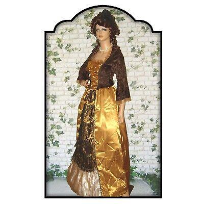 Rokoko Noble Dame L 44 46 Barock Kostüm Kleid Hofdame Steampunk LARP (Barock Kleid Kostüm)