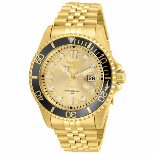 Invicta Men's Watch Pro Diver Yellow Gold Plated Stainless Steel Bracelet 30613
